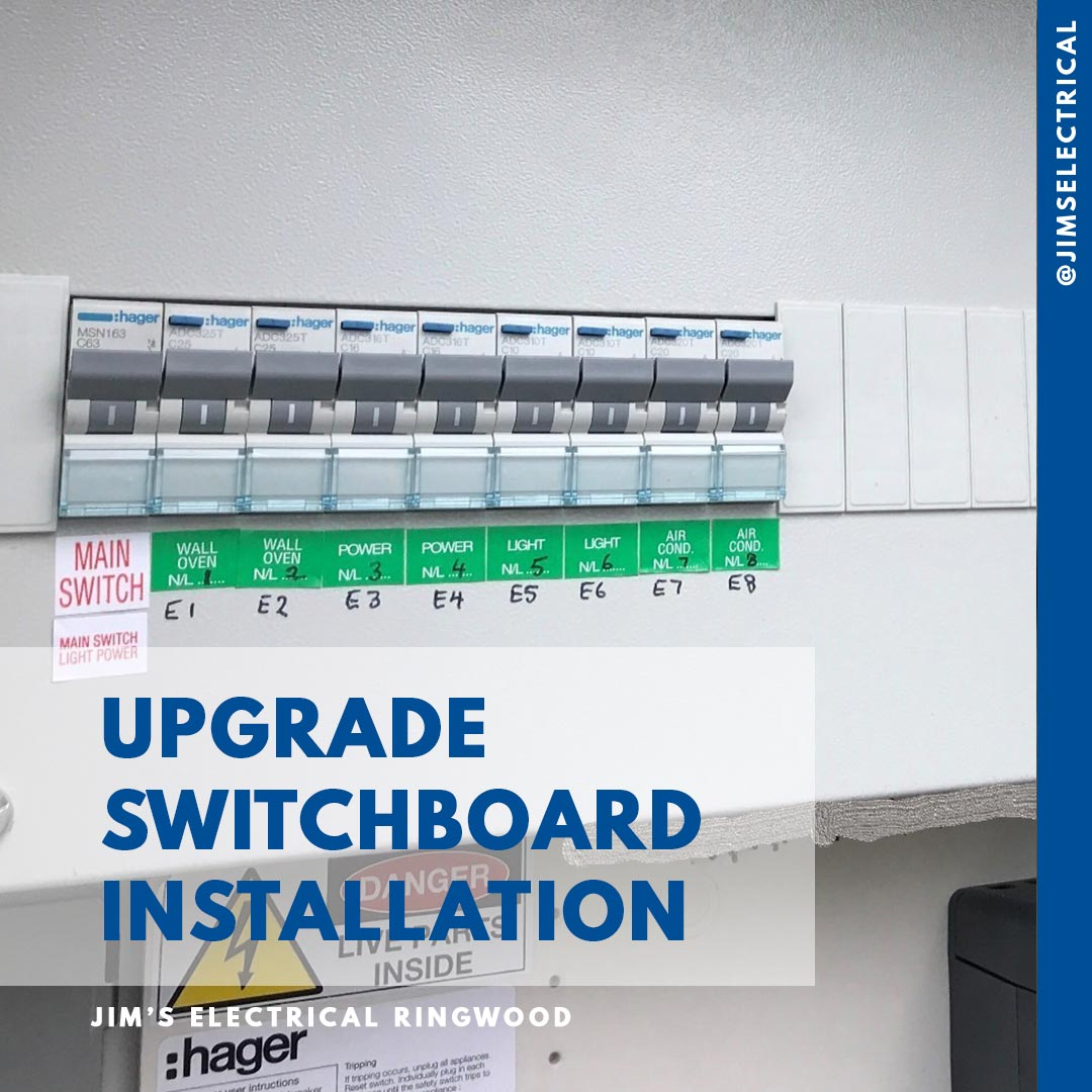 Jims Electrical Electricians Provide Great Prices Best Residential Wiring Australia Switchboard Upgrade Installation