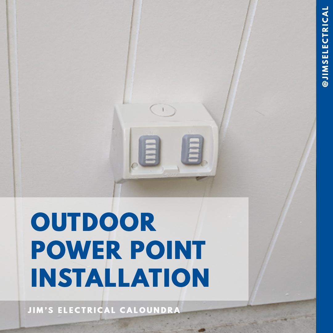 Outdoor Power Point Installation