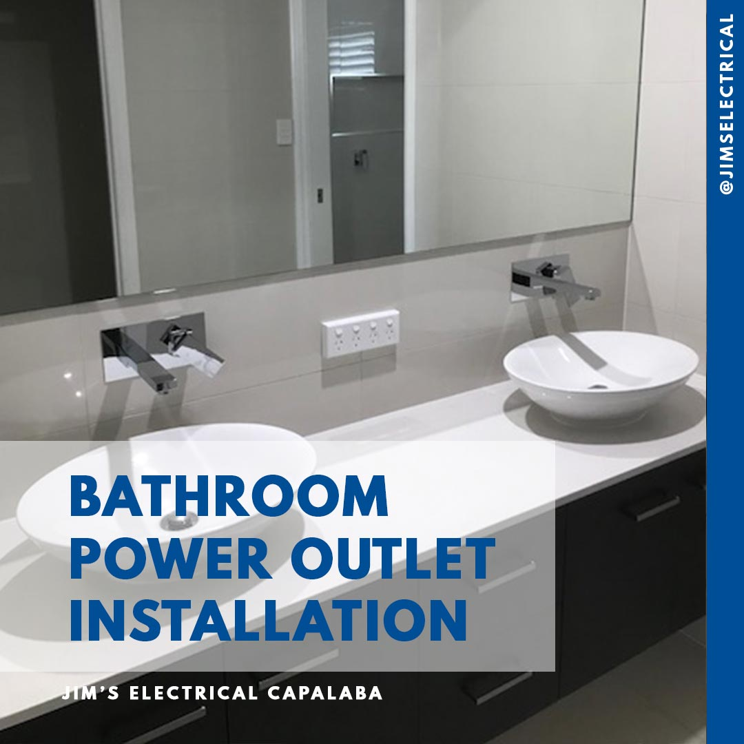 Bathroom Power Outlet Installation