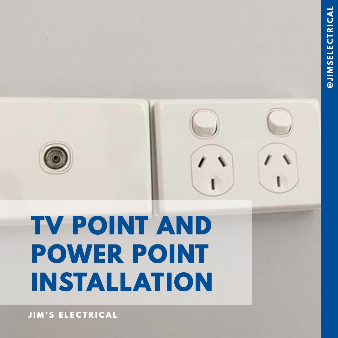 Tv Point And Power Point Installation
